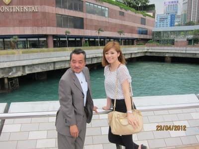 堀本わかこと父の香港旅行写真