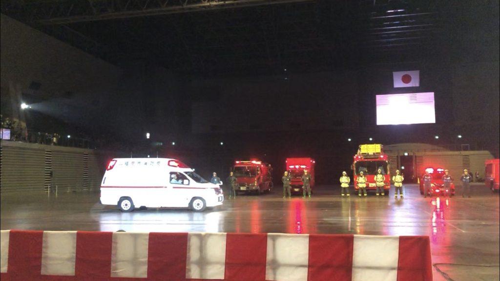 令和二年福岡市消防団出初式へ