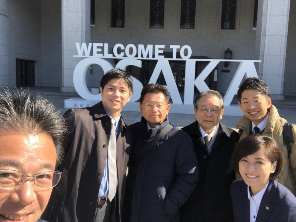 大阪市会へ視察。福岡令和会のメンバーと